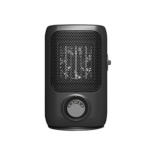 SXYRN Calentador De Cerámica PTC De 1000 W, Elemento Calefactor PTC, Calentamiento De Giro De 70 °, Adecuado para Escritorios Y Mesas, Negro