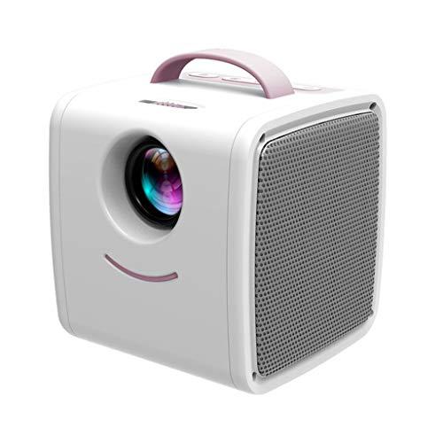 HongLianRiven kleine projector - blauw roze - geschikt voor binnen - een groot aantal stekkers - resolutie 320 x 240 - thuisbioscoop -10.5X10.3X10.5cm 11-20