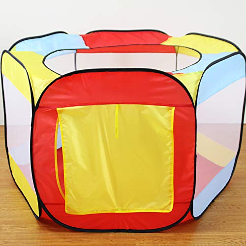 Autoshoppingcenter Play Tents for Kids Pop up Tunnel for Children Indoor and Outdoor Games with Storage Bag The Best Gift for Children Color Square Play House [US Stock]