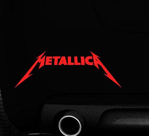 MR WHEEL TRIMS - Adesivo per auto con scritta 'Metallica'