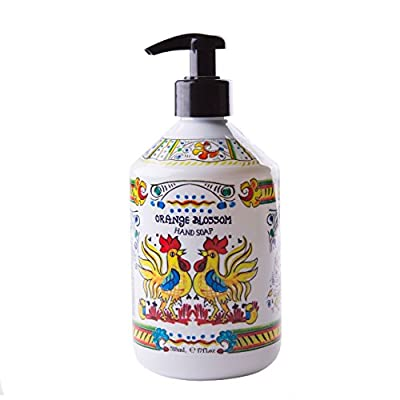 World Market Deruta Orange Blossom Hand Soap - Perfect Kitchen Decor Antibacterial Soap - Organic Liquid Handsoap with Italian Soap Dispenser - Hand Sanitizer to Everyone Bathroom or Kitchen 17 Ounce