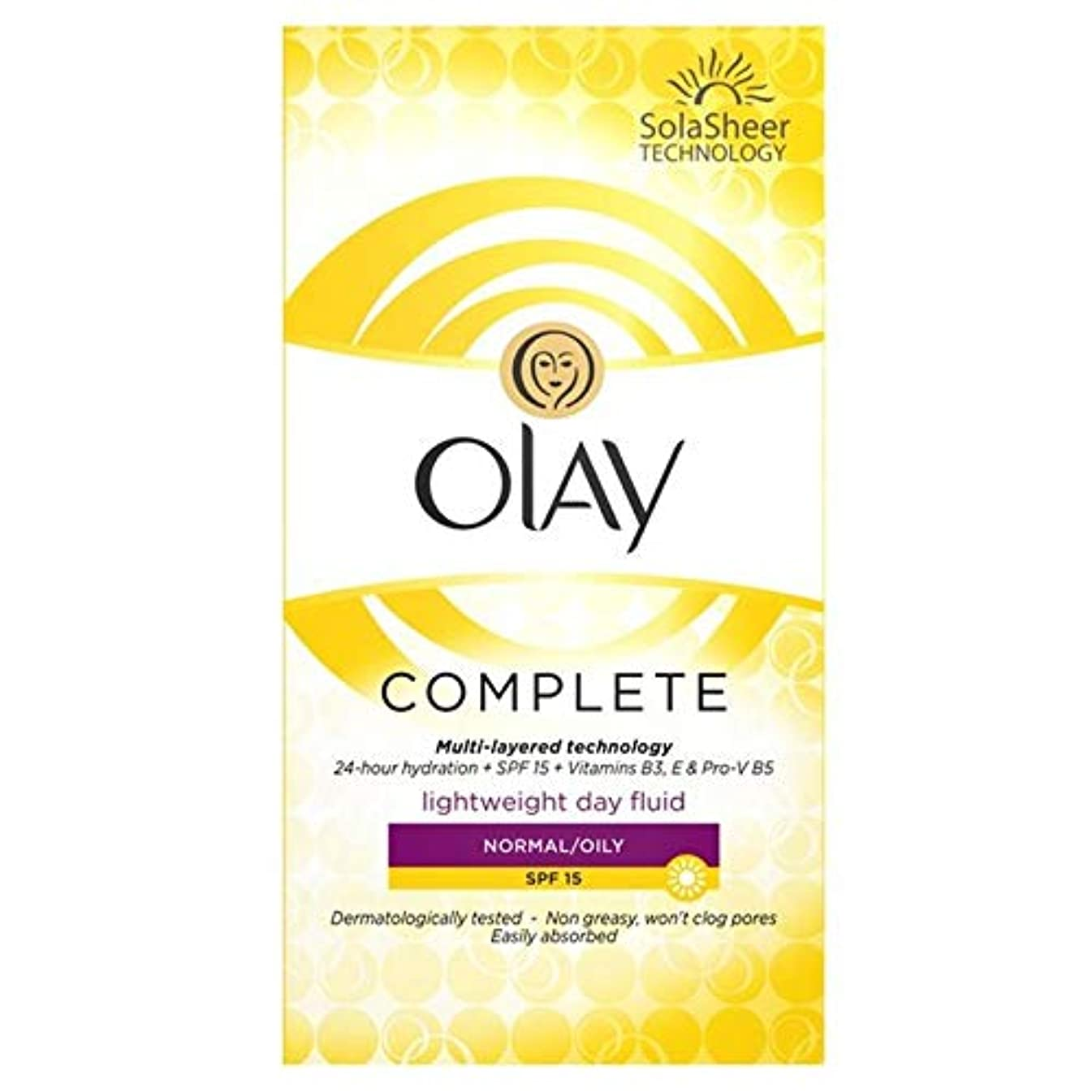 頑張る眼抗生物質[Olay ] オーレイの必需品、完全なケア保湿毎日のUv流体Spf 15 100ミリリットル - Olay Essentials Complete Care Moisturiser Daily UV Fluid SPF 15 100ml [並行輸入品]