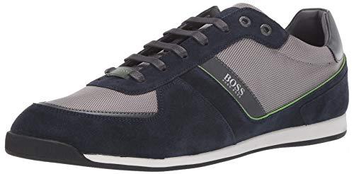 Hugo Boss mens Suede Sneaker, Indigo Blue, 11 US