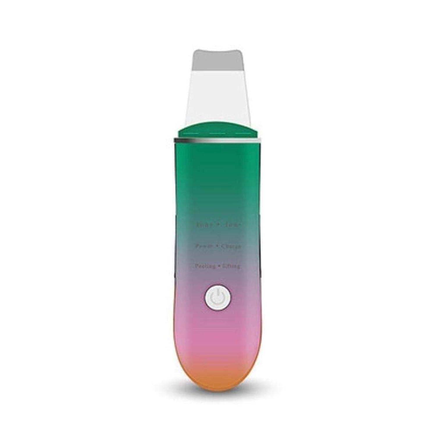 第九ベリーかわす黒ずみを除去するためのフェイシャルスキンスクラバーポータブル超音波フェイススクラバースキンケア剥離しわ除去機クリーナーフェイシャルビューティーデバイス (Color : A1)