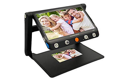 CloverBook LITE 12.5FHD Touchscreen, Foldable Video Magnifier for Low Vision