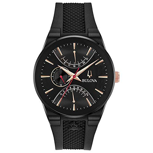 Men's Bulova Special Edition Modern Latin Grammy Black Strap Watch 98B321