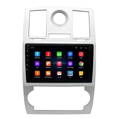 XMZWD Autoradio Stéréo De Voiture Android 9.1 pour Chrysler 300C, 9' Écran Tactile HD Lecteur Radio Navigation GPS avec Bluetooth WiFi Commande Au Volant,WiFi:1+16G