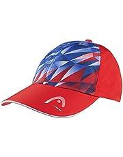 Head Gorra con función de luz para niños, Azul Real/Rojo, Talla única
