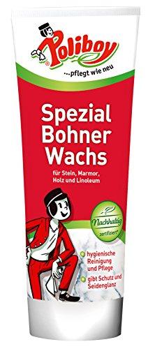 Poliboy Spezial Bohner Wachs - für Fußböden aus Holz, Kunststoff oder Stein - 250ml - Made in Germany