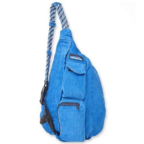 KAVU Mini Rope Cord Bag Corduroy Sling - Strong Blue