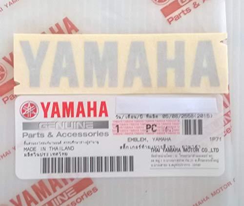 YAMAHA Brand NEU Aufkleber Sticker Emblem Logo 80mm x 18mm Metallisch Silber Selbstklebend Motorrad/Jet Ski/ATV/Schneemobil