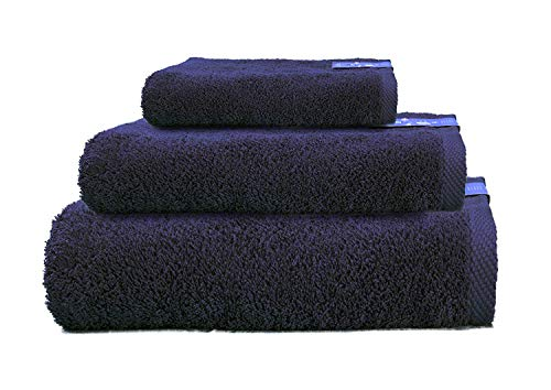 Cabetex Home - Juego de Toallas 100% Algodón Peinado - 550 Gr/m2 - Tres Piezas - Toalla de baño, Lavabo y Tocador (Marino)