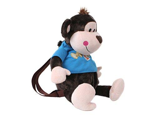 TE Trend 18116 - Plüsch Rucksack Affe Monkey mit Shirt 45 cm, braun/blau