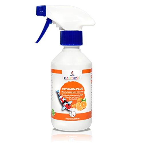 HAPPYKOI® Vitamin-Plus Futterzusatz flüssiges Ergänzungsfuttermittel für Koi Fisch (250 ml)