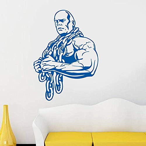 Wall Sticker Car Gym Sticker Ironmen Fitness Iron Chain Dumbbell Decal Body-Building Posters Wall Decals Decor Gym Sticker 42X58Cm