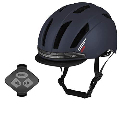 Kohyum Casco de bicicleta inteligente con 3 tipos de luces de advertencia,...