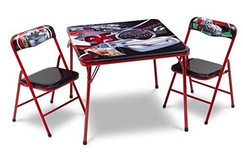 Delta Cars-KLAPPTISCH- & Stuhl-Set, Plastic/Metal/MDF/Foam, Red, 61.975999999999999x61.975999999999999x50.292000000000002 cm