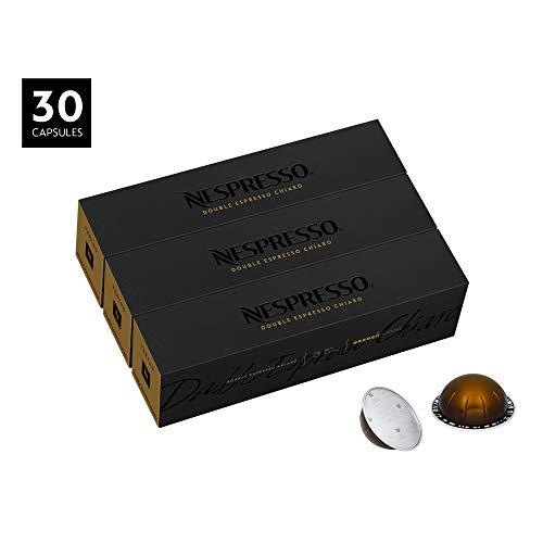 Nespresso Capsules VertuoLine, Double Espresso Chiaro ,Medium Roast Espresso Coffee, Coffee Pods, 30 Count