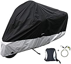 Formosa Covers Premium Heavy Duty Motorcycle Cover (XXL). Includes Cable & Lock. Fits up to 108