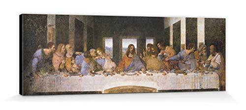 1art1 88374 Leonardo Da Vinci - Das Letzte Abendmahl, 1494–1499 Leinwandbild Auf Keilrahmen 150 x...
