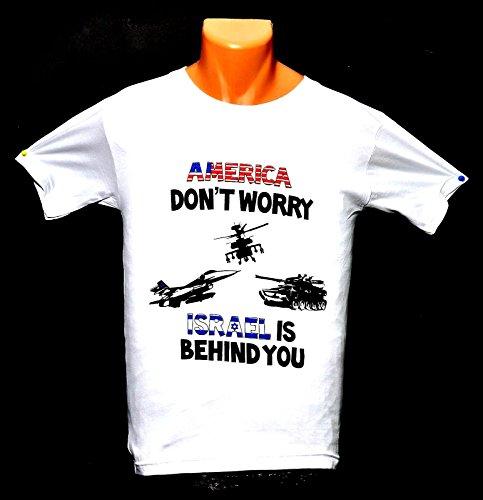 springnahal America Dont Worry Israel ist hinter Sie T-Shirts Hohe Qualität 100% Baumwolle (S) (M) (L) (XL) (XXL)