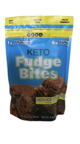 Keto Fudge Bites - Delicious Low-Carb to-go Chocolate Snacks   Non GMO, Gluten Free, Paleo Togo Snack Made with Grass-Fed Whey Protein   Ketogenic Diet Friendly Treats (7 Bites) - Bonus EBOOK from YouBar