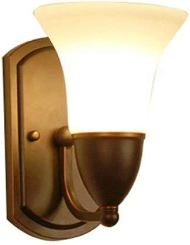 Aussenlampe Wandbeleuchtung Wandlampe Wandleuchte Innen Amerikanisches Land Eisenkunstwohnzimmer Nordisches Schlafzimmerbettstudien-Restauranttreppe