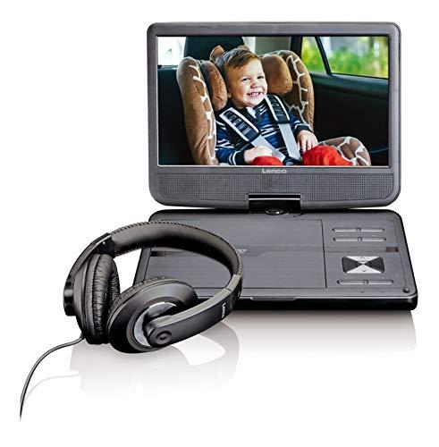 Lenco draagbare DVD-speler DVP-1010 25,5 cm (10 inch) met hoge resolutie (1.024 x 600) geïntegreerde accu