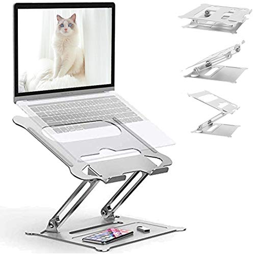 RINBO Laptop ständerStufenloseinstellbar, Schicker AluminiumNotebook Stand, UniversalKompatibel mitAlle(10bis17Zoll)Notebooks,Dell,HP,Samsung,Lenovo,Surface,Acer, Huawei, MacBookPro/Air,Ipad