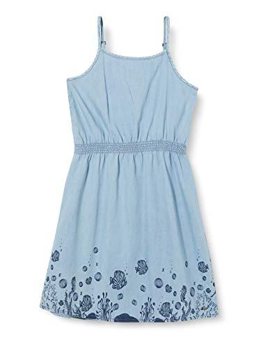 Mexx Girls Dress, Denim Light Wash, 146
