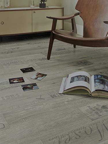 PVC Bodenbelag mit kulinarischer Schrift (9,95€/m²), Zuschnitt (2m breit, 6m lang)