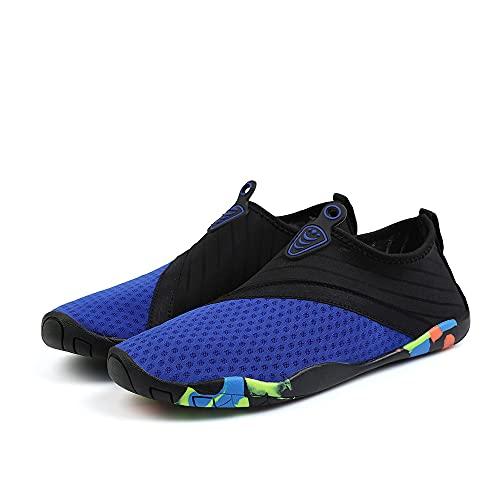 OldPAPA Zapatos para el Agua para Hombres y Mujeres, Zapatos para Agua Ligeros de Secado rápido,Blau, Talla 44