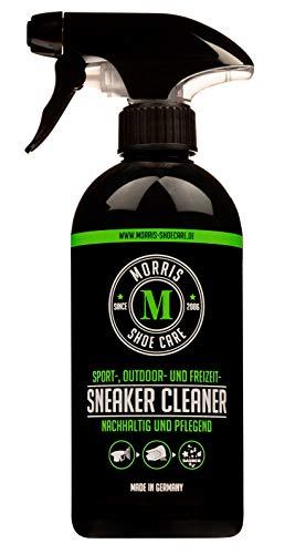 Morris Shoe Care Sneaker Cleaner - für Sport-, Outdoor-, Freizeit-Bekleidung und Schuhe - Lederpflege, Reiniger, Schuhpflege - Sprühflasche, 1 x 500 ml