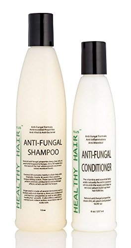 Antifungal Shampoo (12oz) & Conditioner (8oz) Combo that Fights Fungus and Bacteria on the Scalp and...