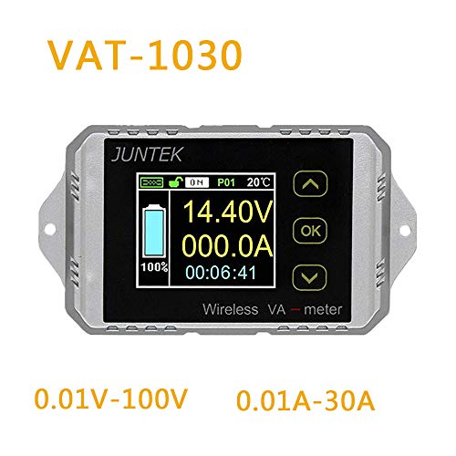 Why Choose RONSHIN Newest for Juntek VAT1030 Wireless Voltage Current Meter 100V 30A Car Battery Mon...