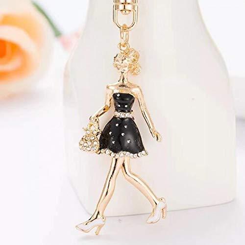 N/Een creatieve legering meisje sleutelhanger Mooie hoge hakken schoenen auto sleutelhanger vrouwen mode tas ornamenten Charm sieraden Gift
