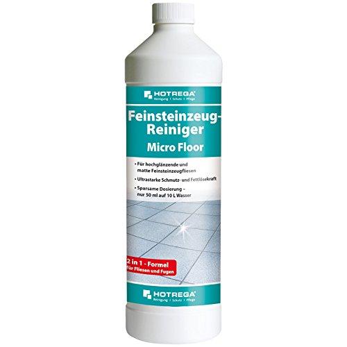 HOTREGA Feinsteinzeug Reiniger Micro Floor intensive Reinigung und Pflege für Feinsteinzeugfliesen 1 L