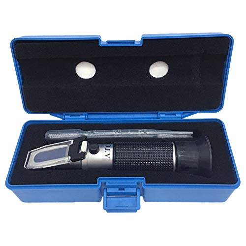 Brix Refractometer with ATC, Dual Scale - Specific Gravity & Brix, Hydrometer in Wine Making and Beer Brewing, Homebrew Kit