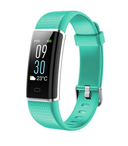 PLUIEX Reloj Inteligente Pantalla LCD a Color Banda Inteligente Modos multideportivos Podómetro Rastreador de Ejercicios Pulsera de frecuencia cardíaca para Xiaomi, Verde