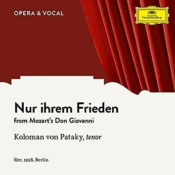 Mozart: Don Giovanni, K. 527: Nur ihrem Frieden (Sung in German)