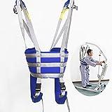 WXDP Silla de ruedas autopropulsada, paciente de elevación s cinturón paciente caminando seguro rehabilitación andar entrenador para ancianos y discapacitados