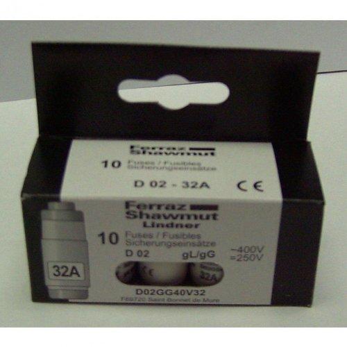 Neozed Sicherung 32A D02 / Schachtel mit 10 Stück