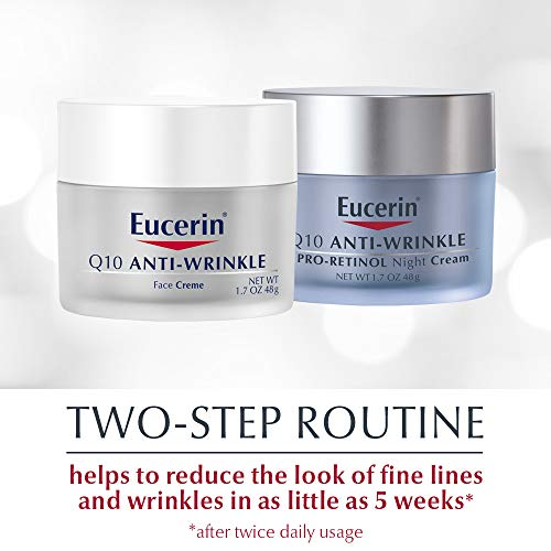 41PmyGHkamL - Eucerin Q10 Anti Wrinkle Day Face Cream + Night Cream | 1.7 Oz (2 Pack)
