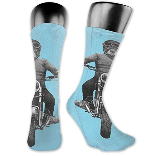 Compression High Socks,Dog Breed Riding Motorcycle Adventurous Scooter Hard Hat,Women and Men For Running,Athletic,Hiking,Travel,Flight