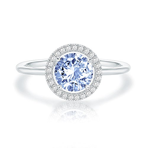 Swarovski Crystal 14K White Gold Plated Birthstone Rings | White Gold Rings...