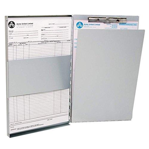 Westcott E-17004 00 Formularhalter-Box aus Aluminium, DIN A4, innenliegender Klemmhalter, seitlich öffnend