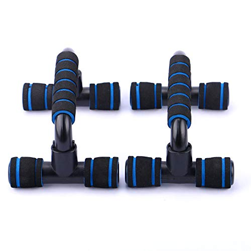 Push Up Bars, Home Workout Equipment, Fitness Exercise Chest Exercise Training Body Building Equipment, Handle with Cushioned Foam Grip and Non-Slip Sturdy Structure, for Men Women (Blue)