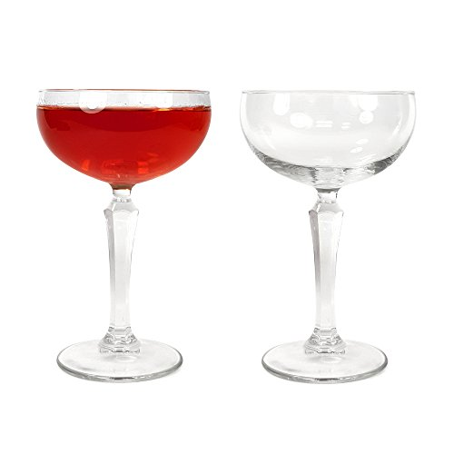 TUFF LUV 2 x Handcrafted Speakeasy Cocktail Coupe/Martini Glass