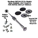 Authentic Apple MacBook Pro Rubber Feet Replacement Kit Bottom Case 13' 15' 17' RETINA A1398 A1425 A1502 (Macbook Retina 2012+)