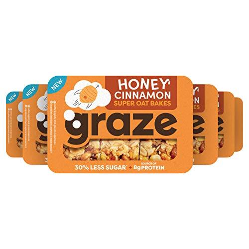 Graze Honey Cinnamon Protein Oat Bites Havermoutrepen – 6 x 3 Repen (57 gram)